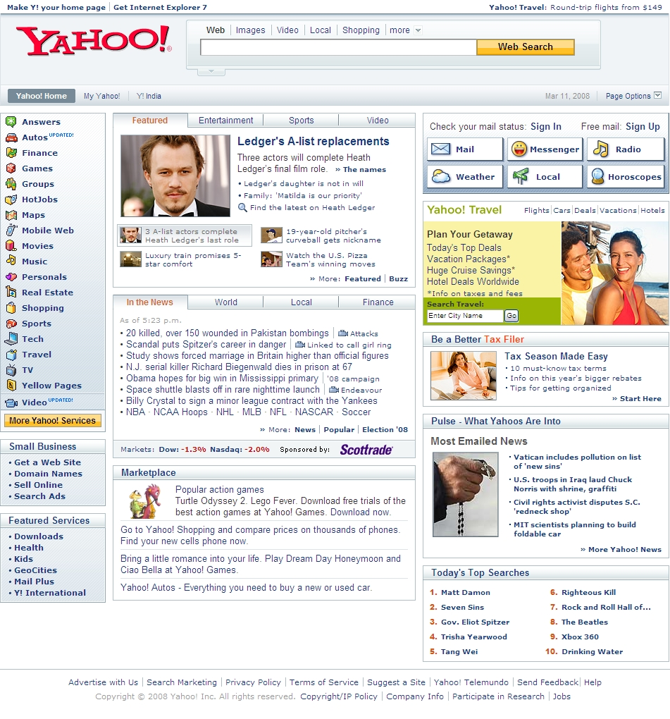 yahoo gay web pages